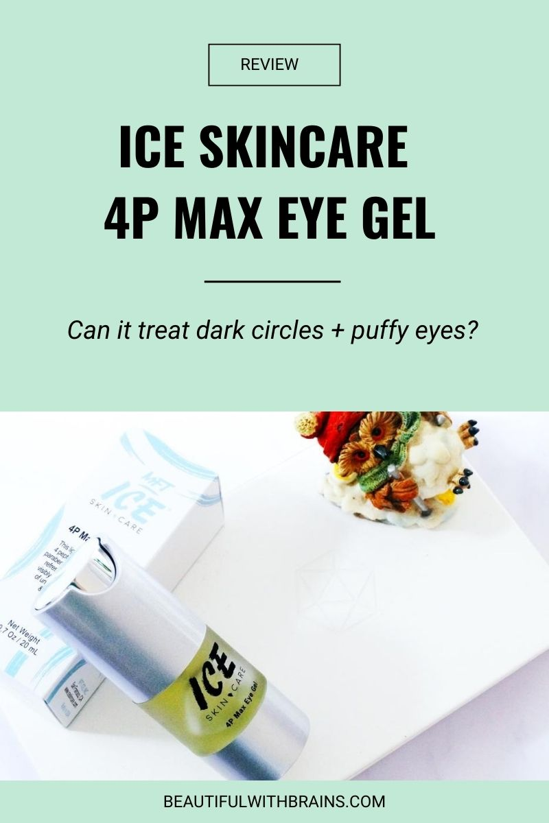 Ice Skincare 4P Max Eye Gel review