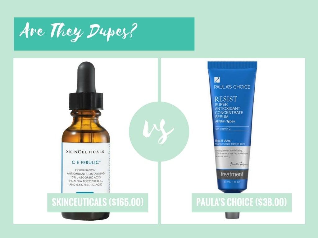 skinceuticals ce ferulic and paulas choice resist antioxidant concentrate serum