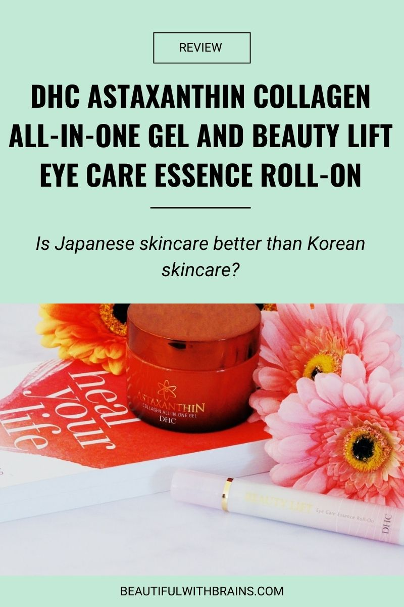 DHC Astaxanthin Collagen All-In-One Gel and Beauty Lift Eye Care Essence Roll-On review