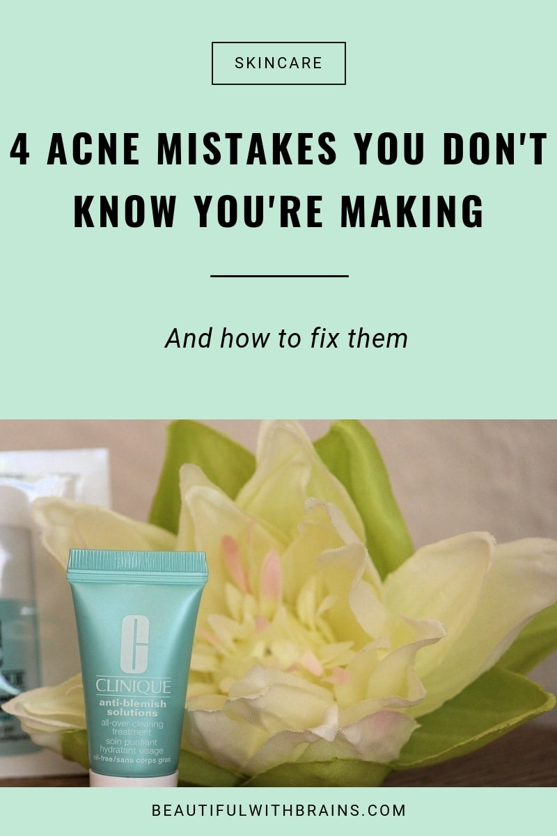 most common acne mistakes