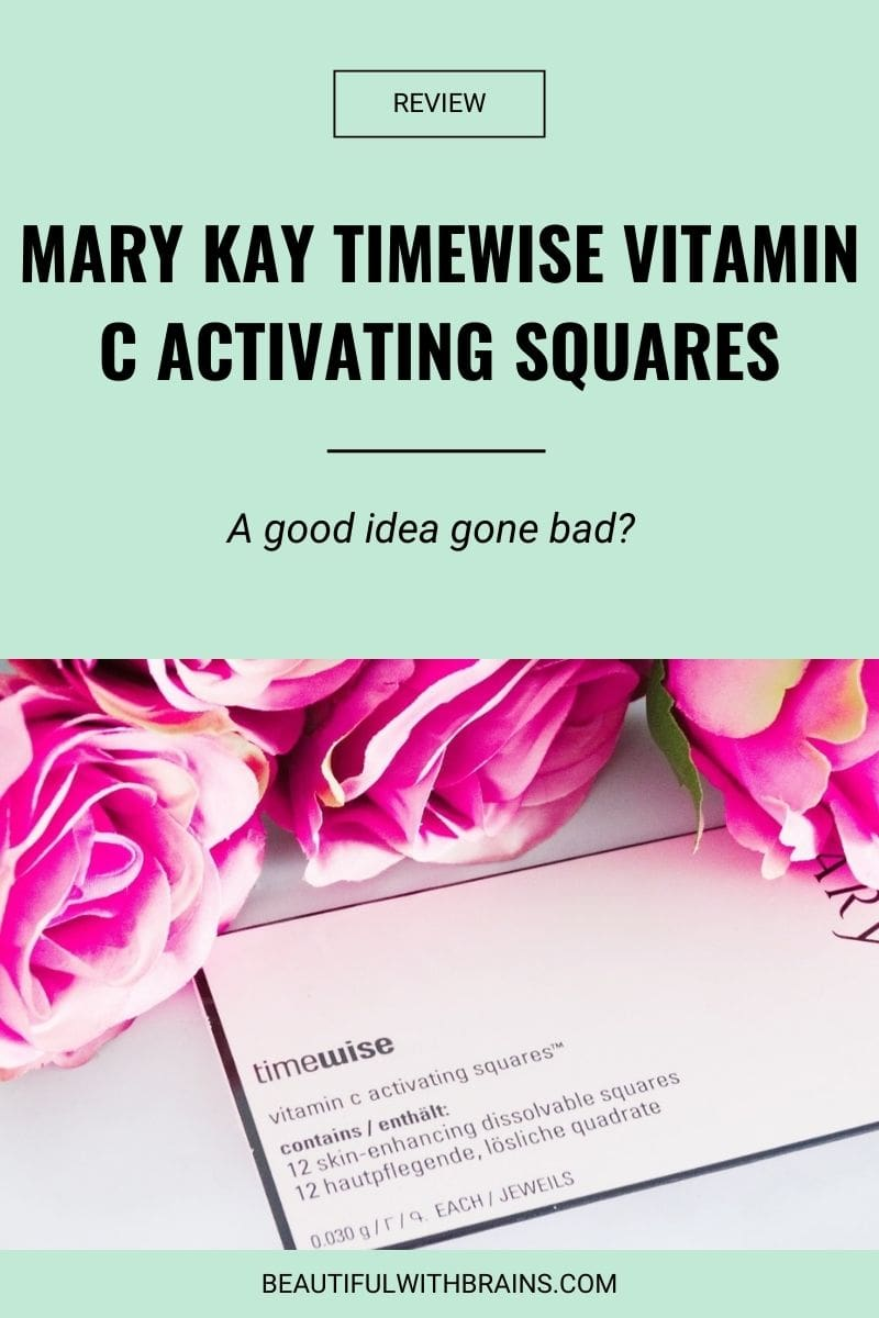 Mary Kay Timewise Vitamin C Activating Squares review
