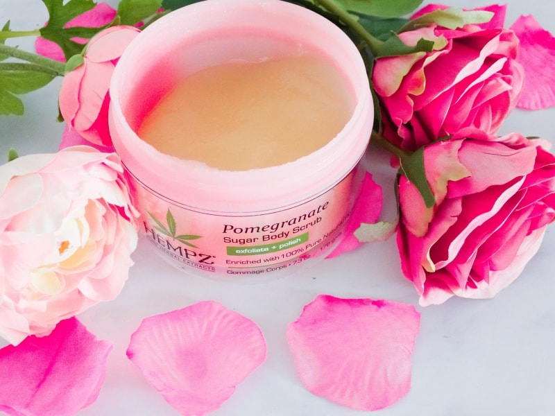 hempz pomegranate herbal sugar scrub