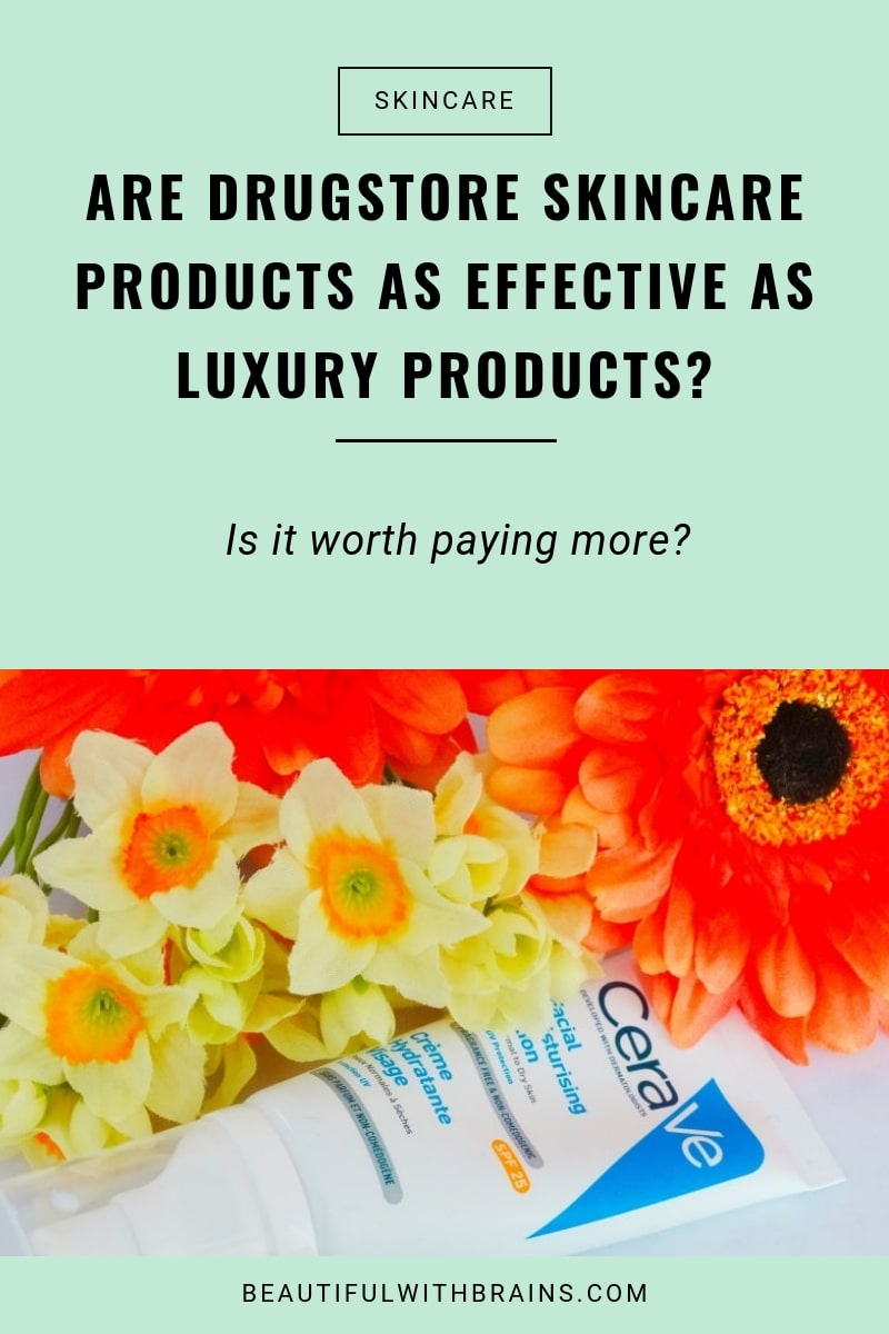 difference between drugstore and luxury skincare