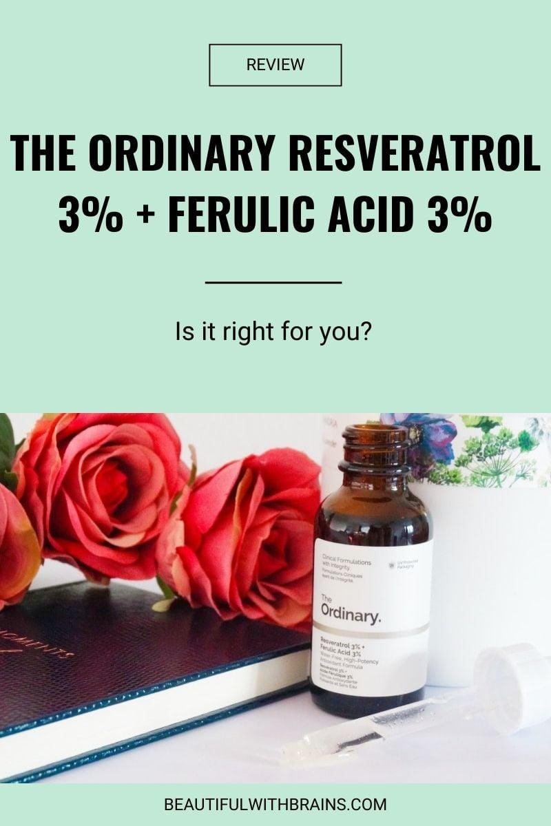 The Ordinary Resveratrol 3% + Ferulic Acid 3% review