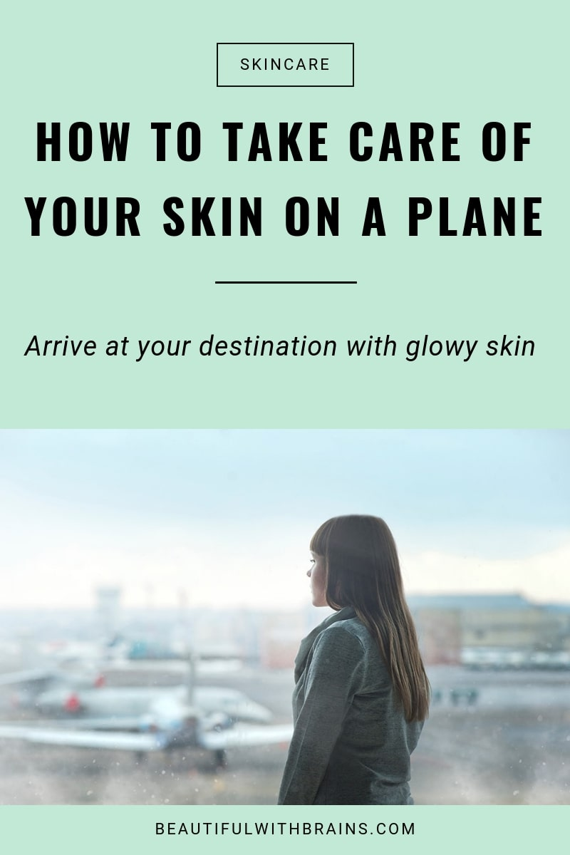 how to take care of your skin on a plane tips