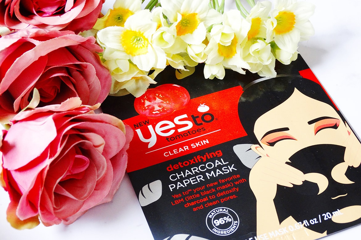 yes to tomatoes detoxifying charcoal paper mask review