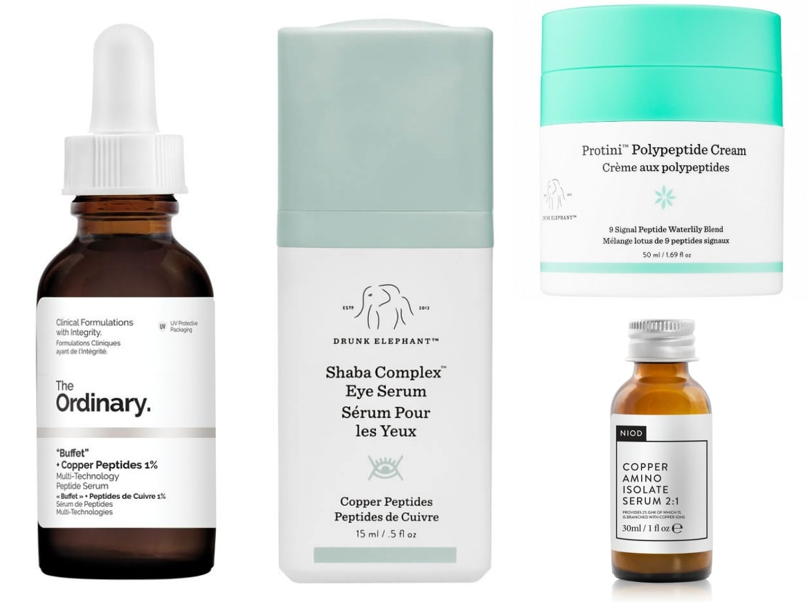 best skincare products with copper peptides
