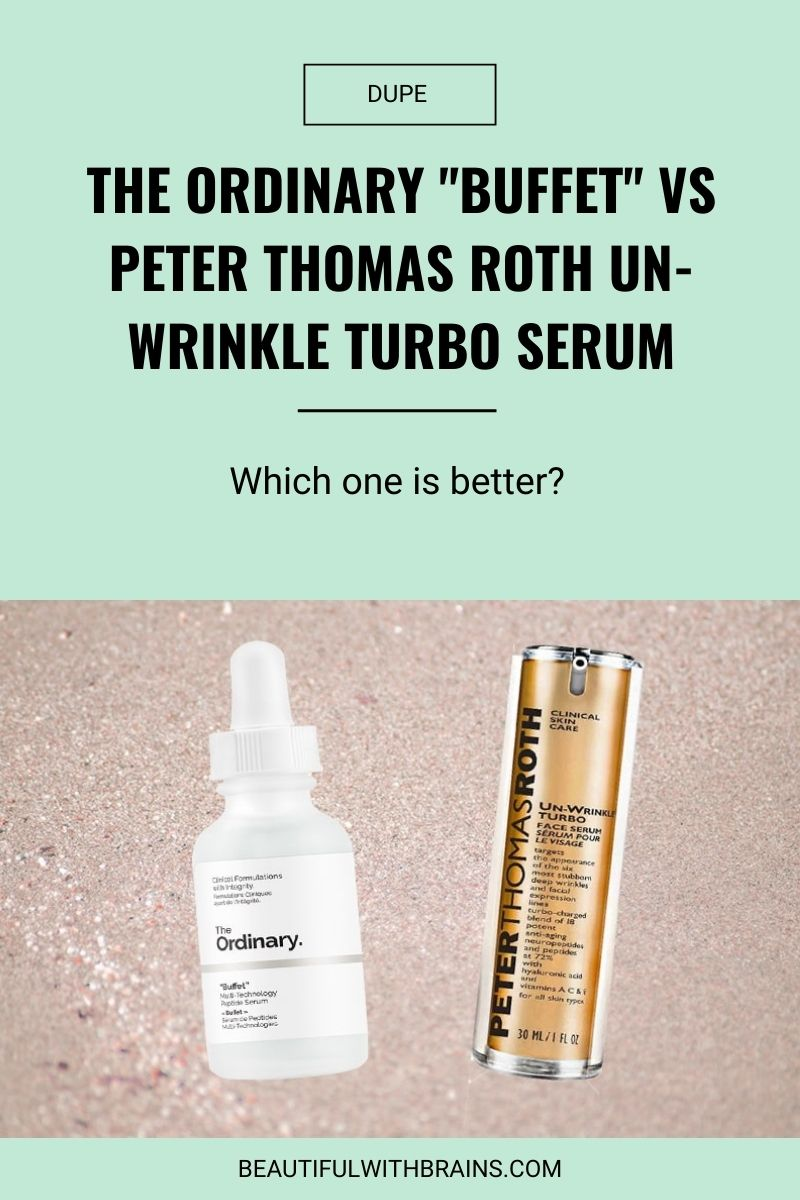 peter thomas roth unwrinkle serum ordinary buffet dupe