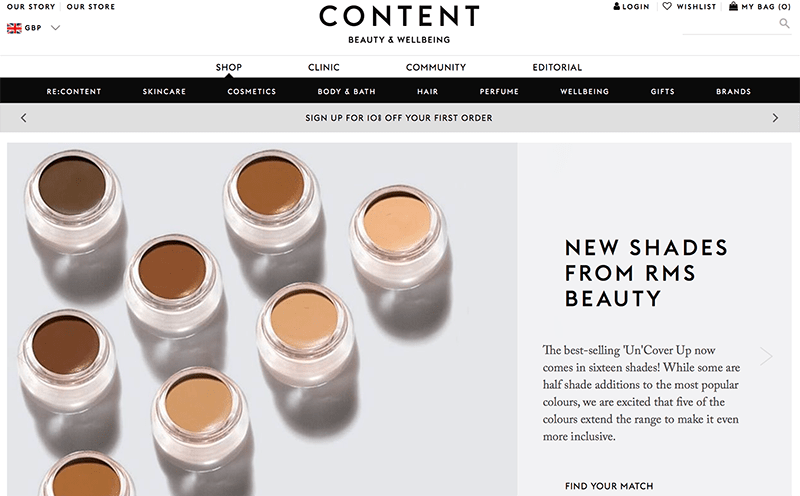 content beauty and wellbeing