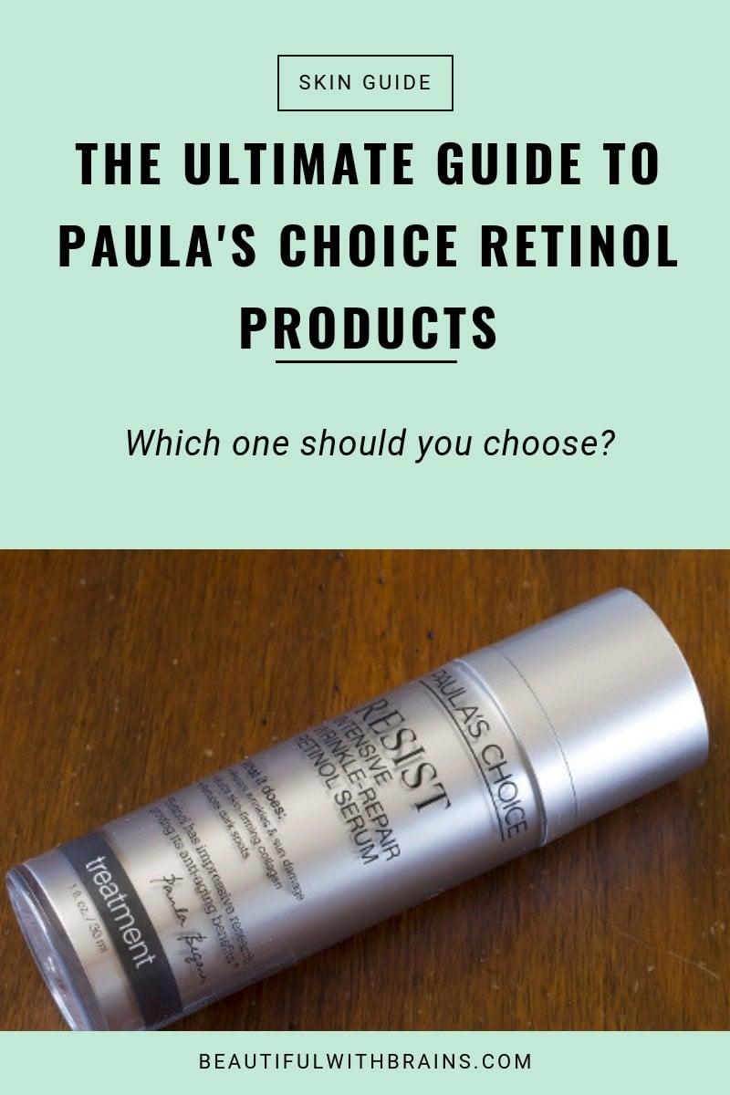 paula's choice retinol products guide