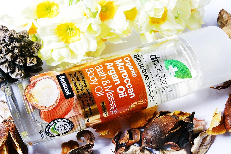 dr organic moroccan argan oil bath & body massage body oil