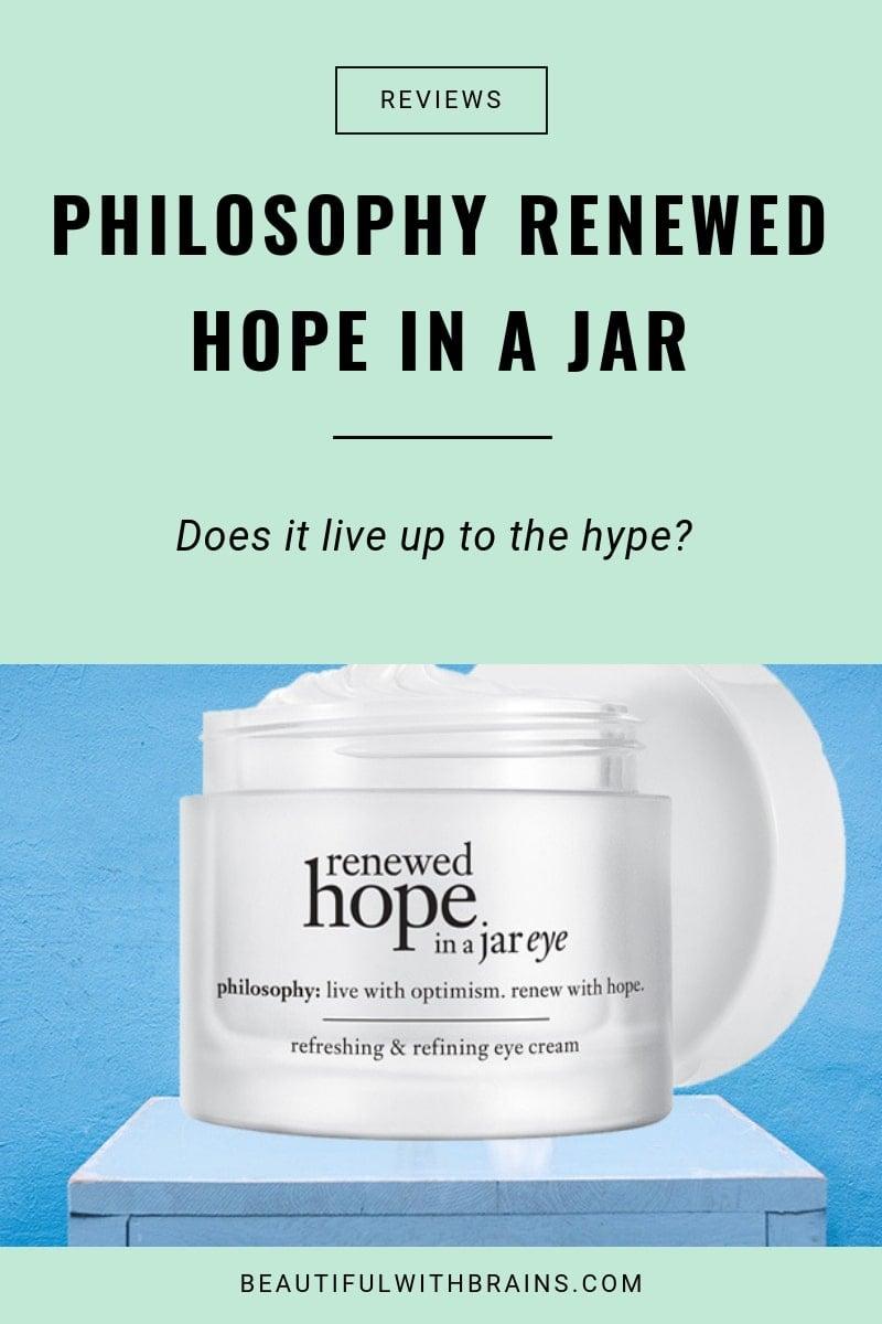 review philosophy renewed hope in a jar