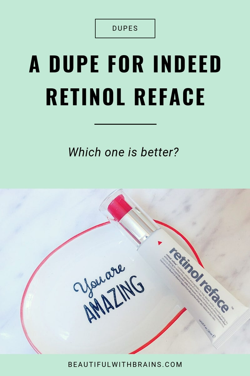 a dupe for indeed labs retinol reface