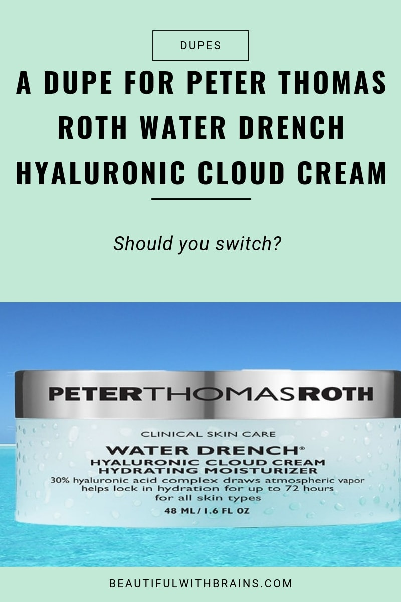 Is Neutrogena Hydro Boost Water Gel a #dupe for Peter Thomas Roth Water Drench Hyaluronic Cloud Cream? Click on the link to find out #skincare