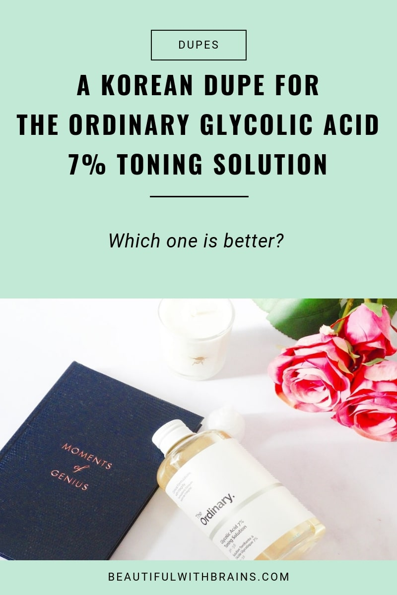 a korean dupe for the ordinary glycolic acid 7% toning solution