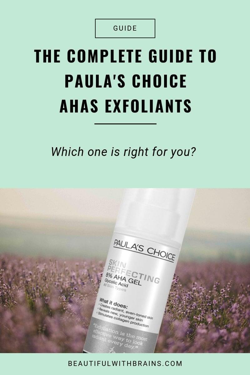 all Paula's Choice AHAs exfoliants comparison
