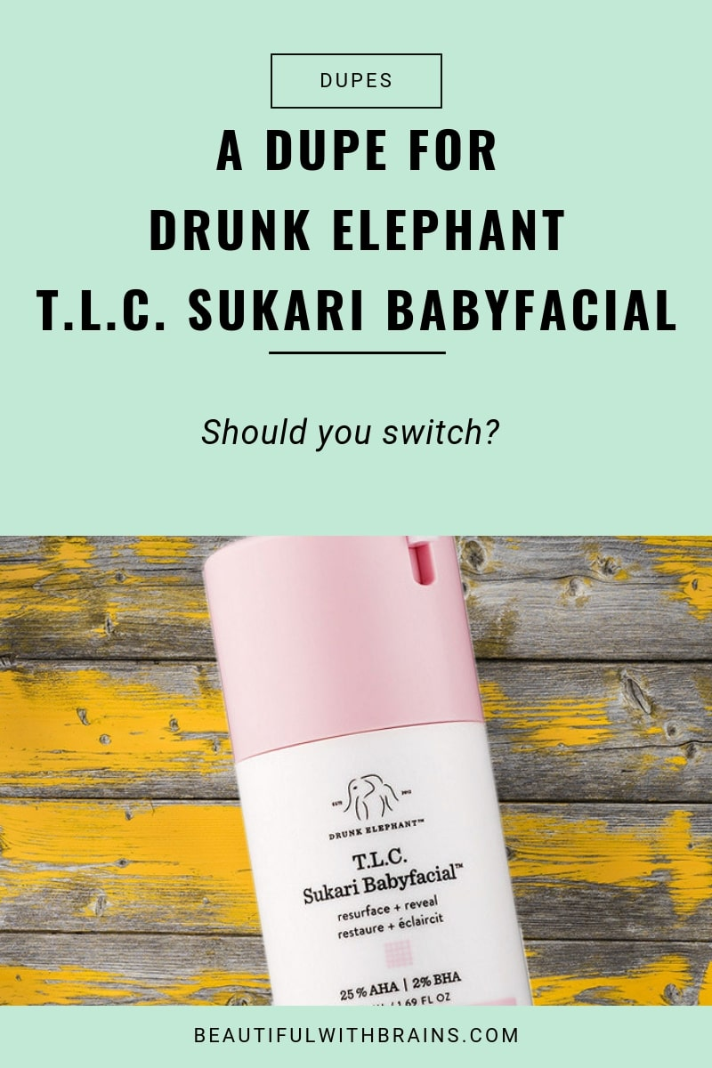 dupe for drunk elephant talc sukari baby facial
