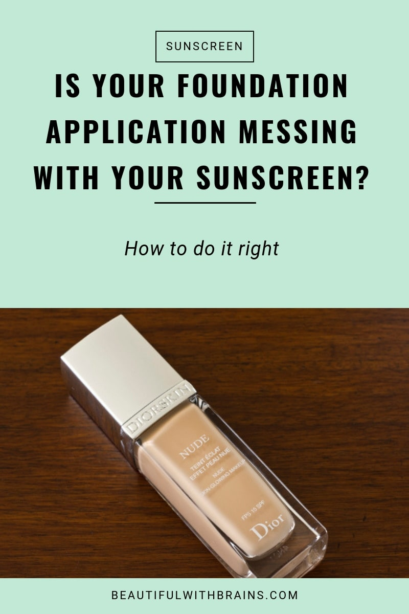 foundation application messing and removing sunscreen