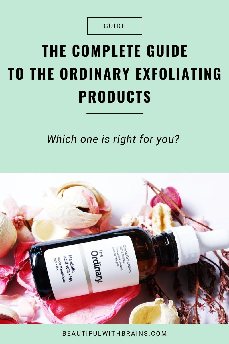 guide to the ordinary exfoliating products
