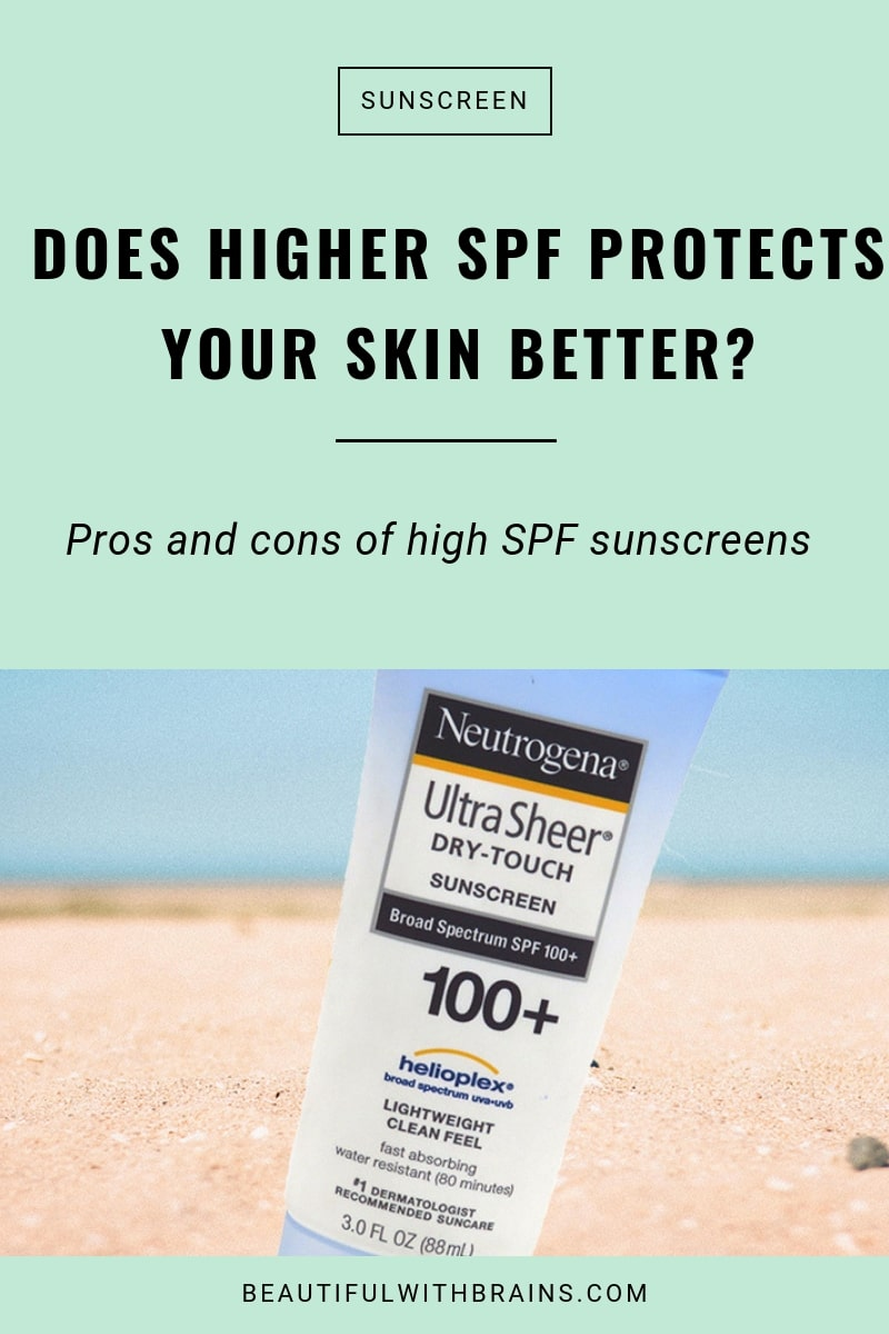 high spf provides better sun protection