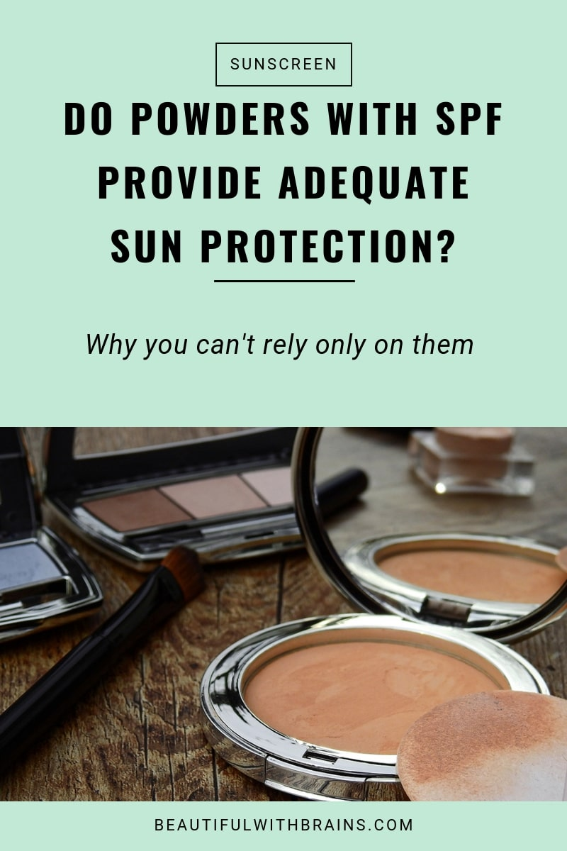 powders with spf provide adequate sun protection