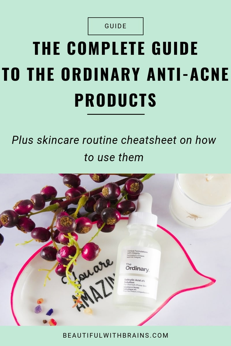 the complete guide to the ordinary anti acne skincare products