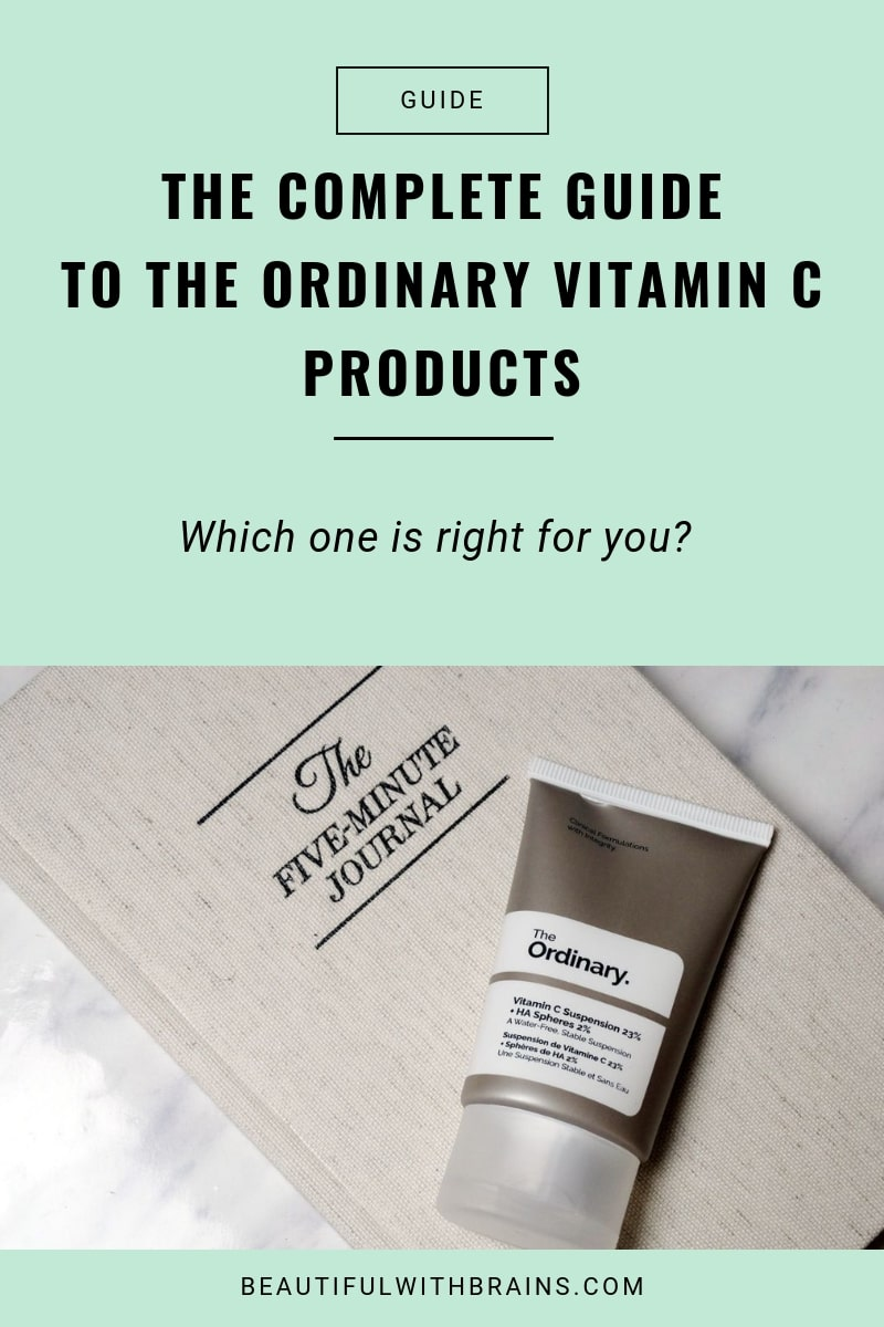 ultimate guide to the ordinary vitamin C products
