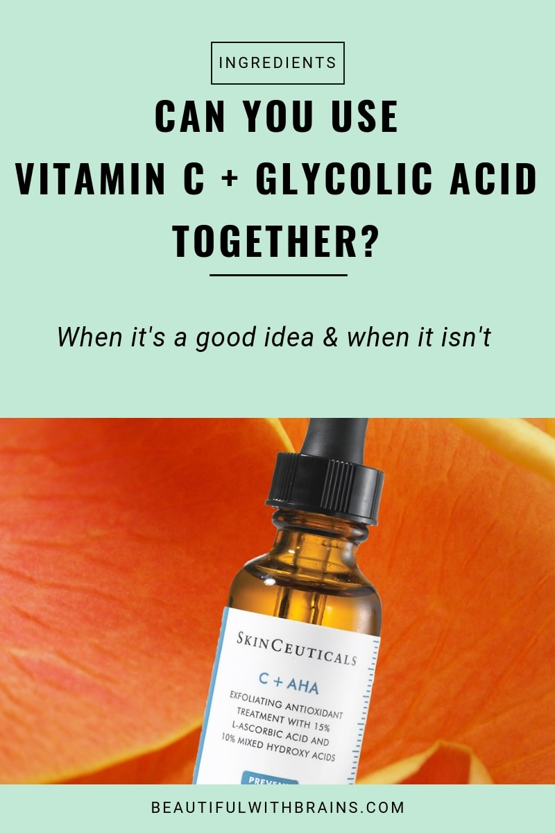 can you use vitamin c and glycolic acid together