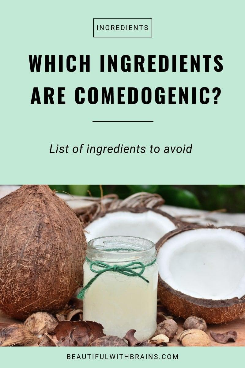 comedogenic ingredients skincare list