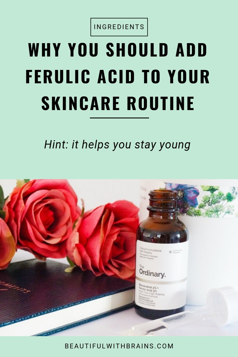 ferulic acid antioxidant skincare benefits