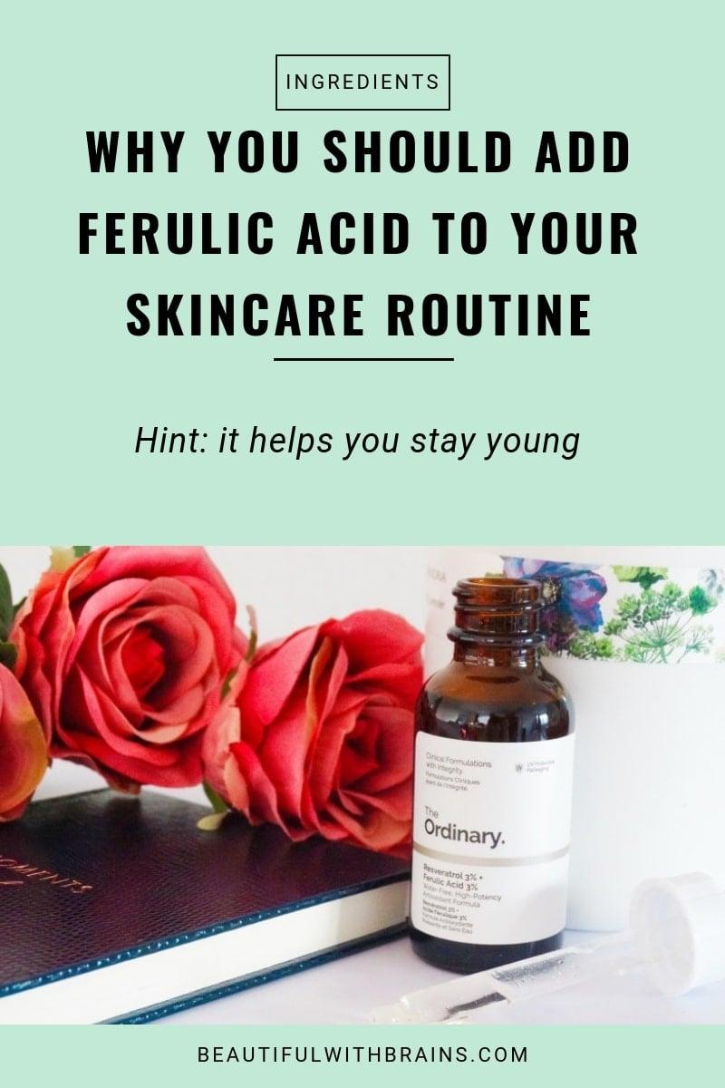 ferulic acid antioxidant skincare benefits