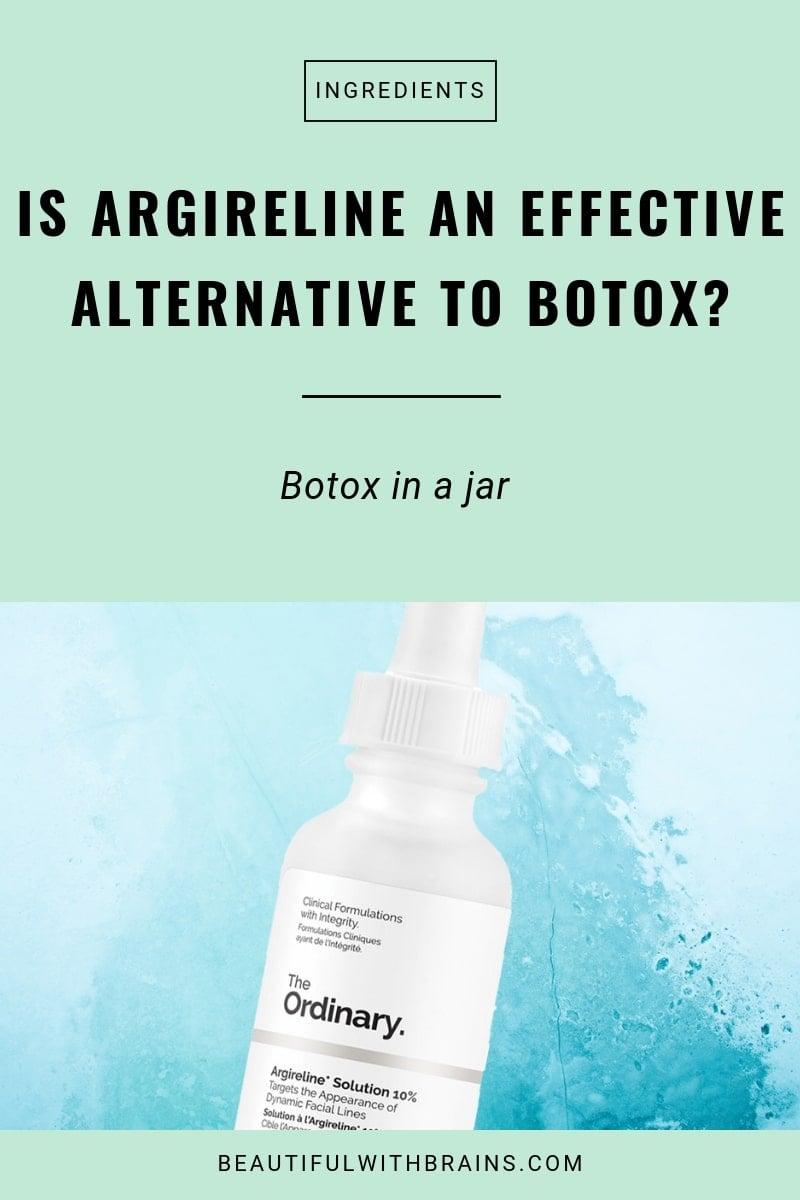 is argireline an effective alternative to botox?