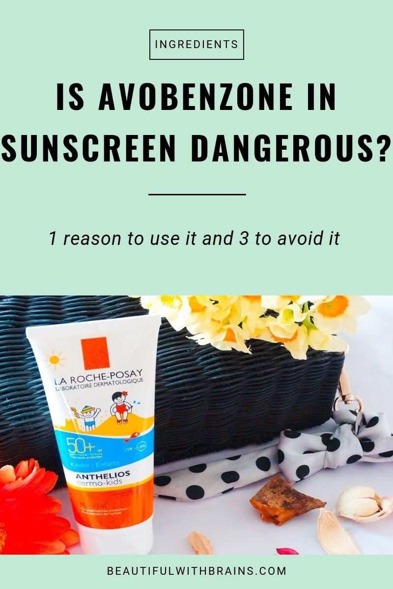 is avobenzone dangerous in sunscreen