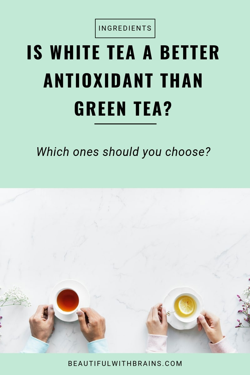 White tea is a powerful antioxidant that can help fight premature aging. So, is green tea. Which of the two is better, and which one should you use? Click through to find out.