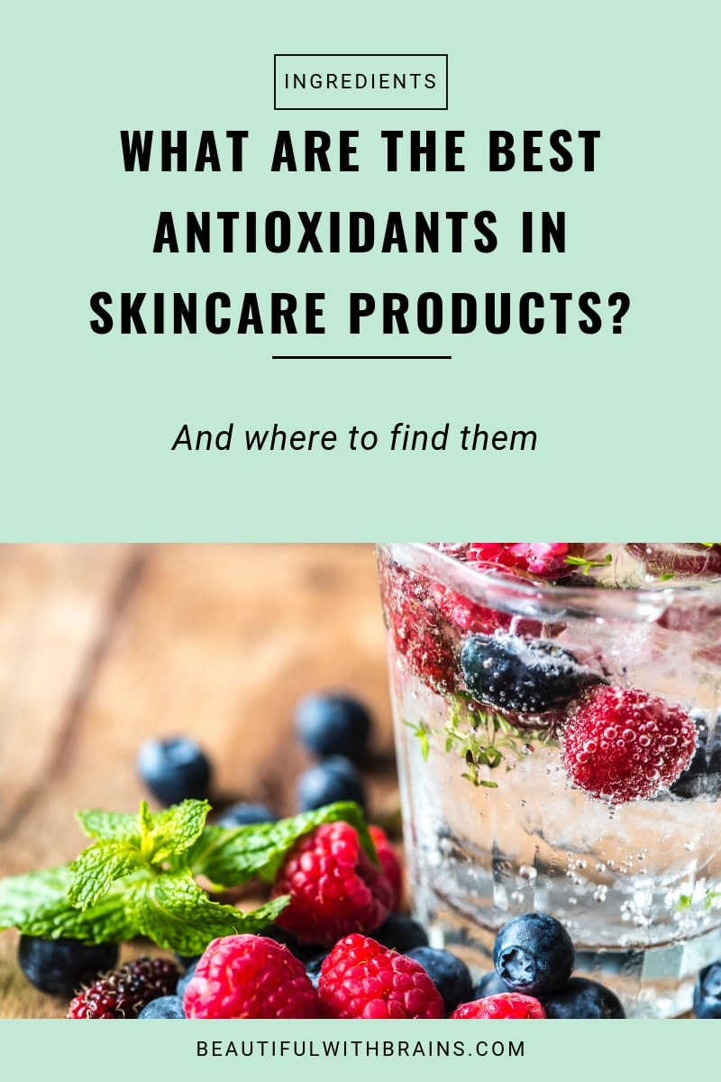 most common antioxidants in skincare