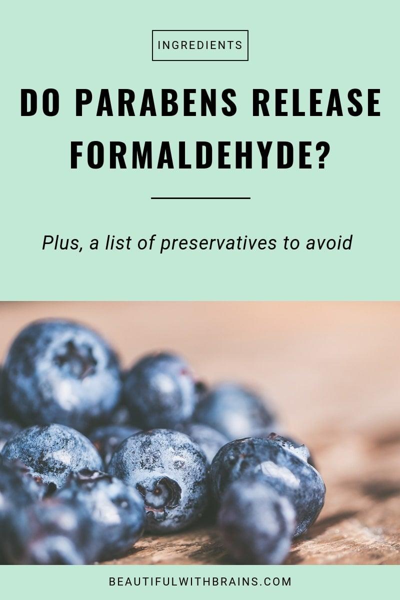 parabens do not release formaldehyde