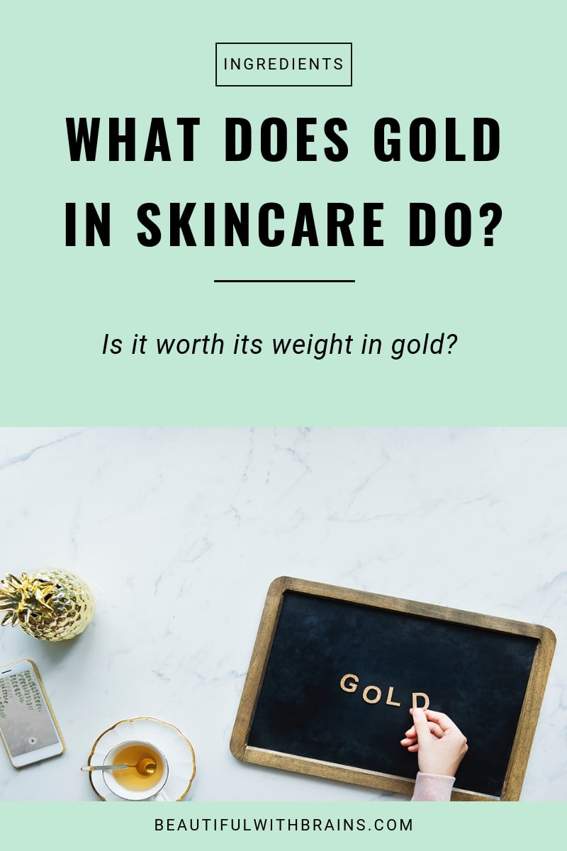 skincare benefits of gold
