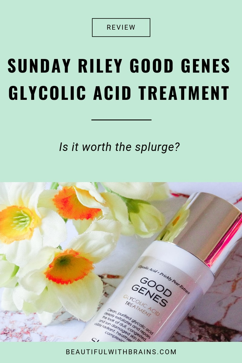 sunday riley good genes glycolic acid treatment review