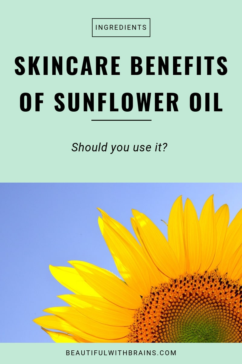 sunflower oil skincare benefits