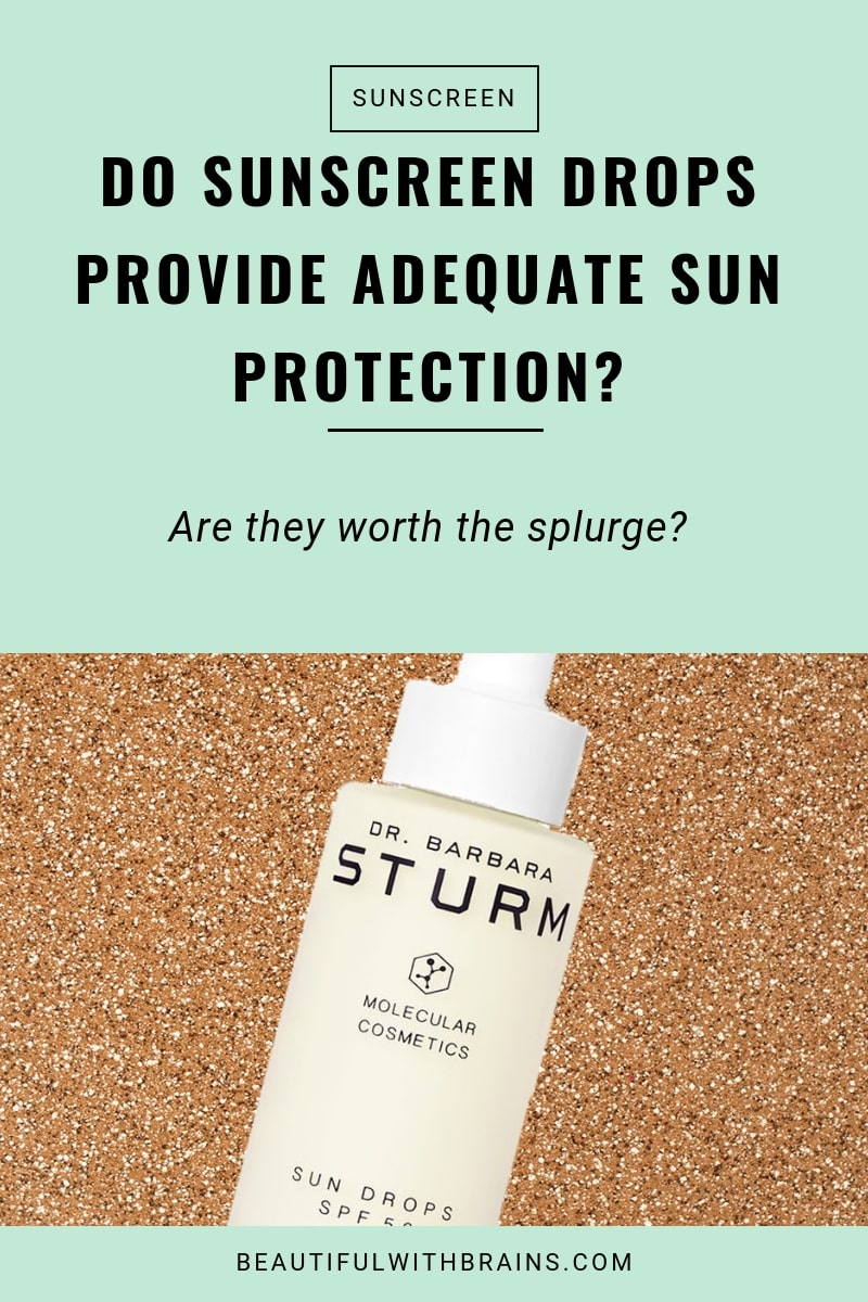sunscreen drops do not provide adequate sun protection