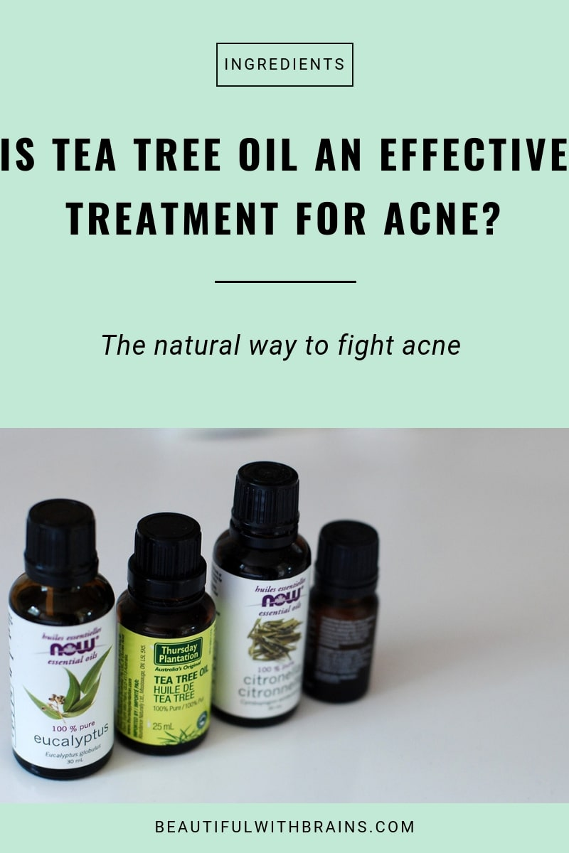 tea tree oil is an effective acne treatment