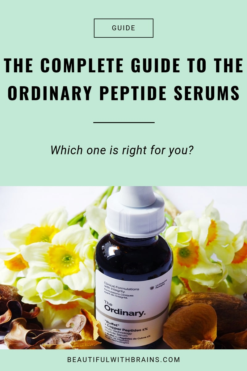 the complete guide to the ordinary peptide serums