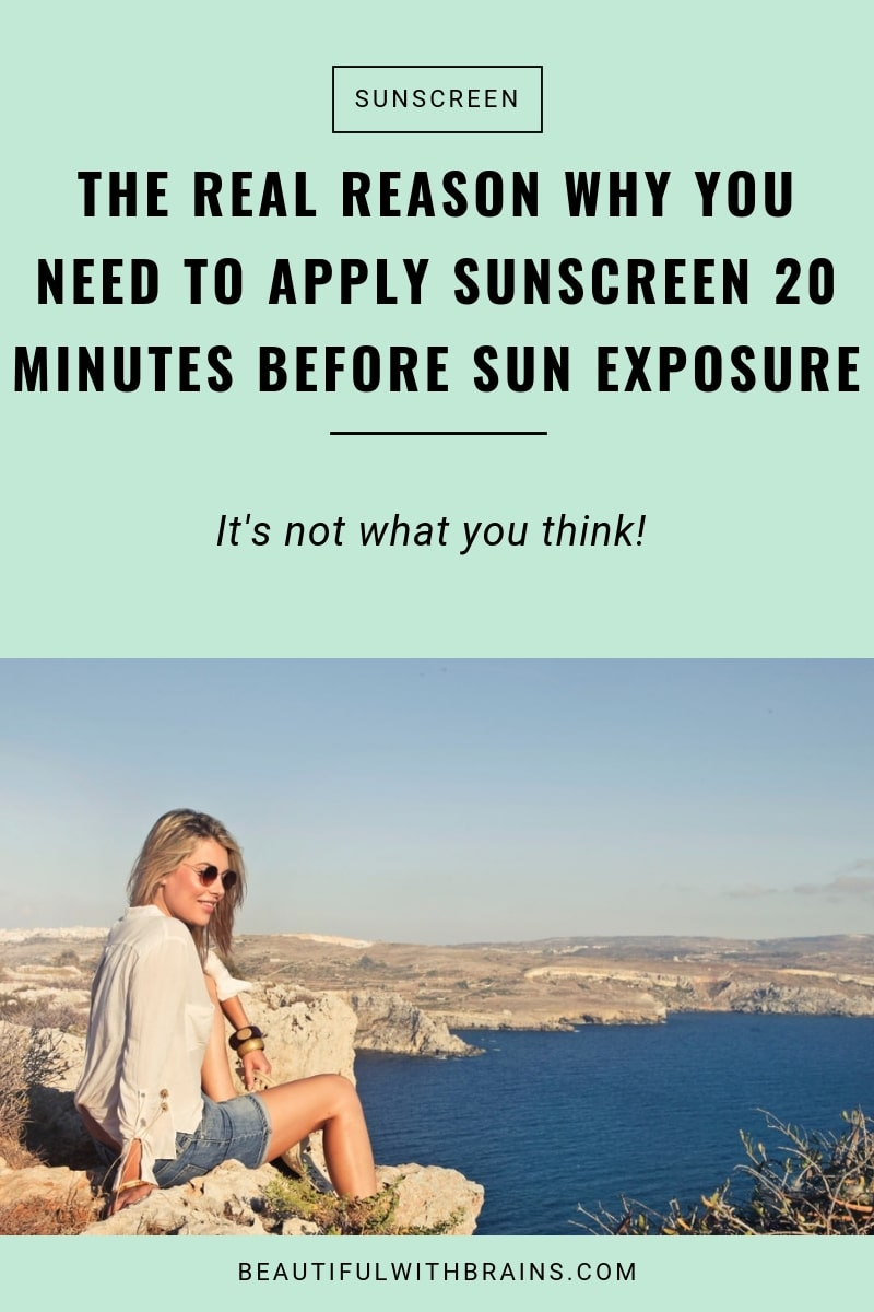 the real reason why you need to apply sunscreen 20 minutes before sun exposure