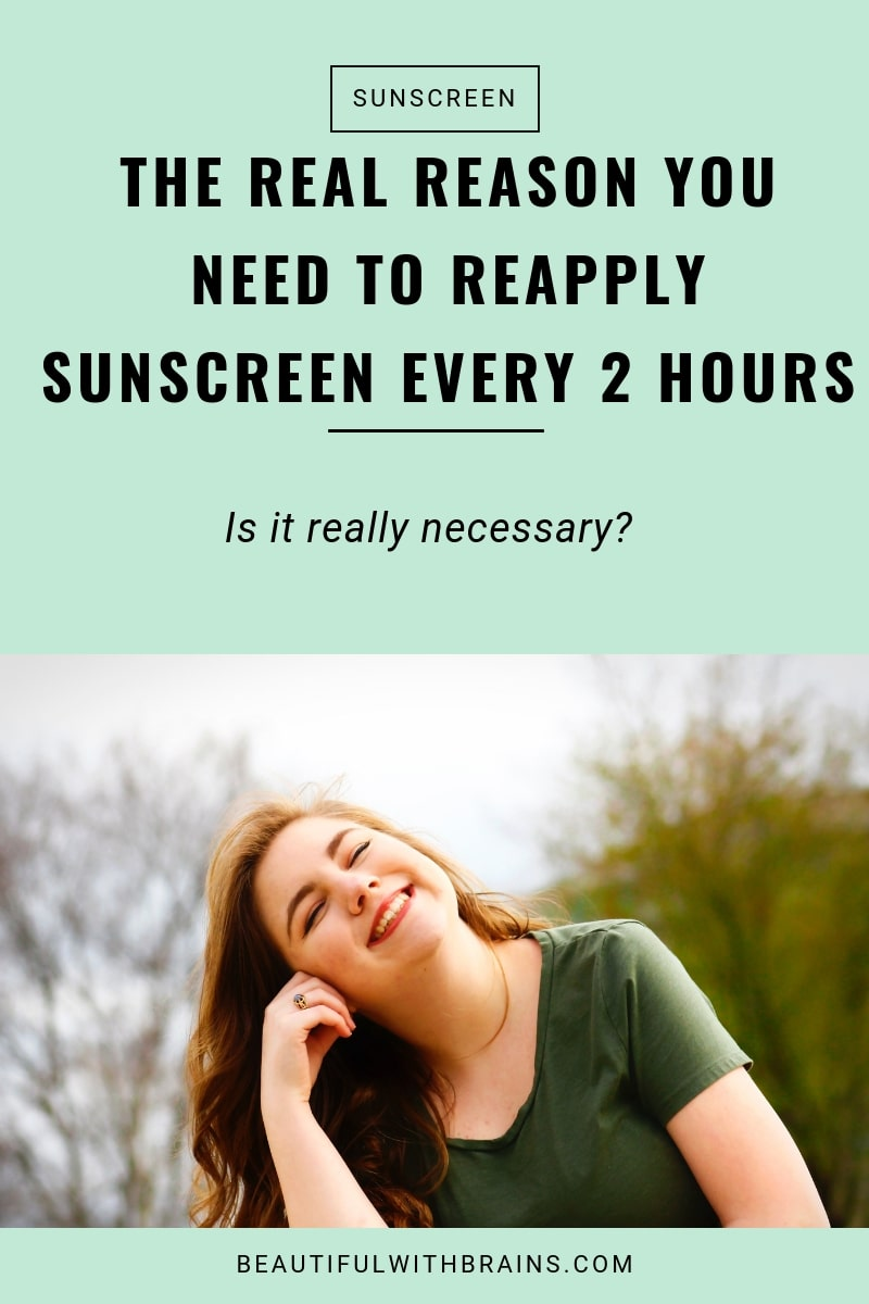 the real reason you need to reapply sunscreen every 2 hours
