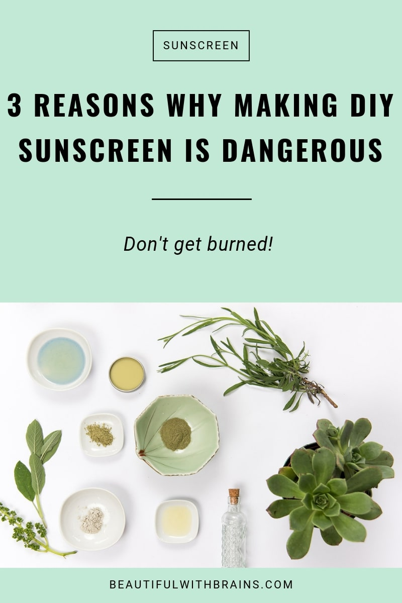 why you shouldn't make diy sunscreen