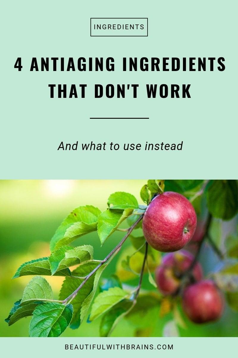 4 antiaging ingredients that don't work