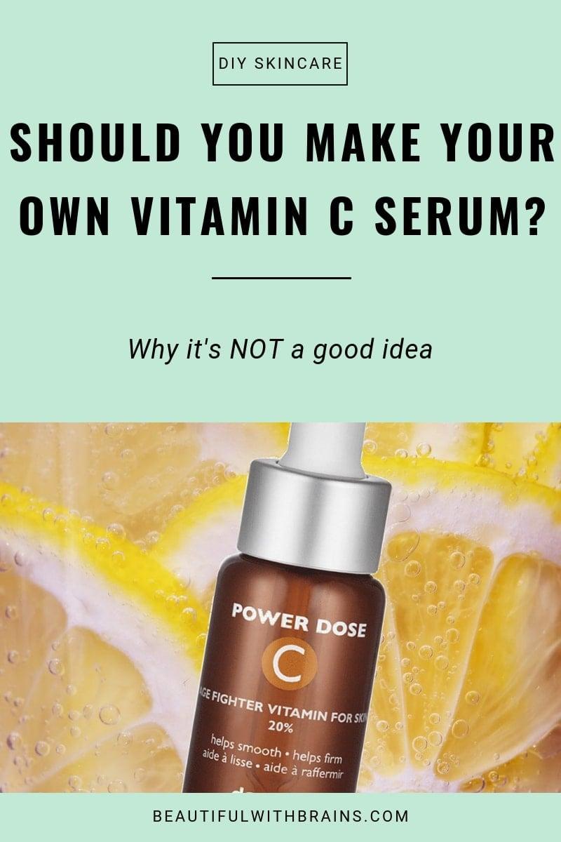 4 reasons why you should not make a DIY vitamin C serum