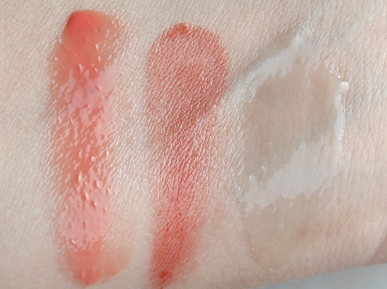 emile cordon miracle lip balms swatches