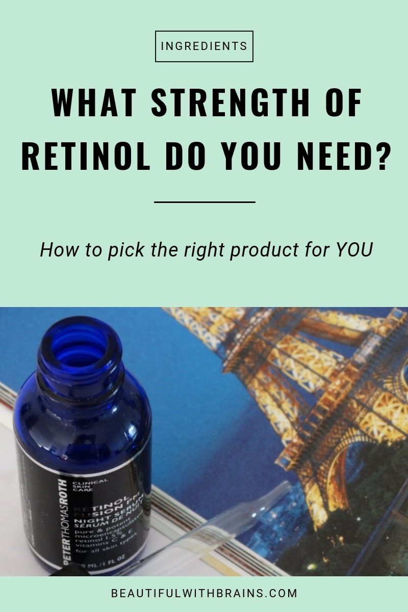 how to choose the right concentration of retinol for you