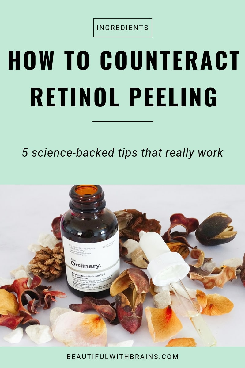 how to counteract peeling from retinoids